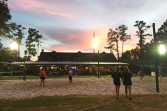 Volleyball Courts at sunset